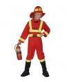 Carnavalskleding brandweer kostuum