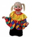 Pluche clowns poncho voor peuters